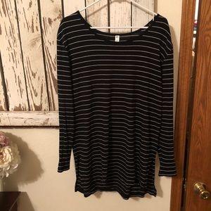 BP black with white stripes tunic